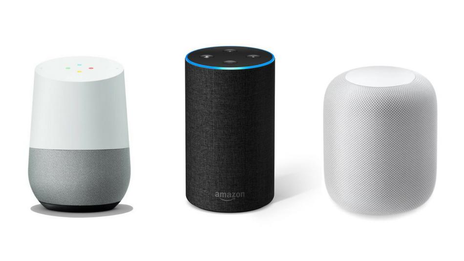 Imagen de Alexa, Google Home y Siri