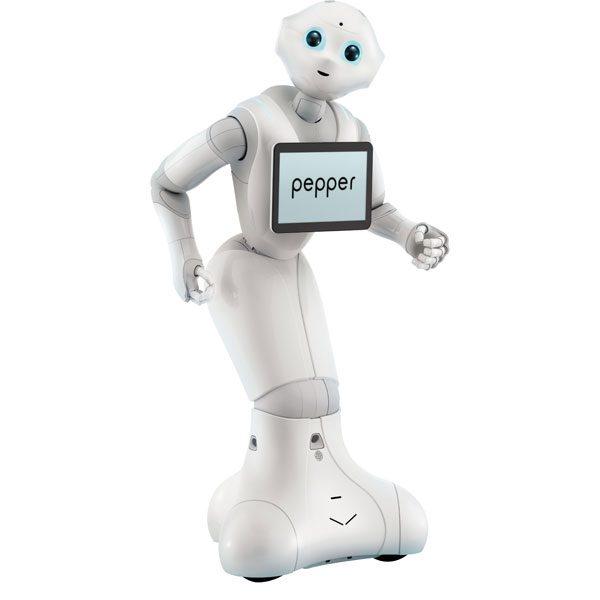 foto de robot Pepper mecánico que es el robot más vendido del mercado. Se trata de un robot social que sirve para aprender robótica
