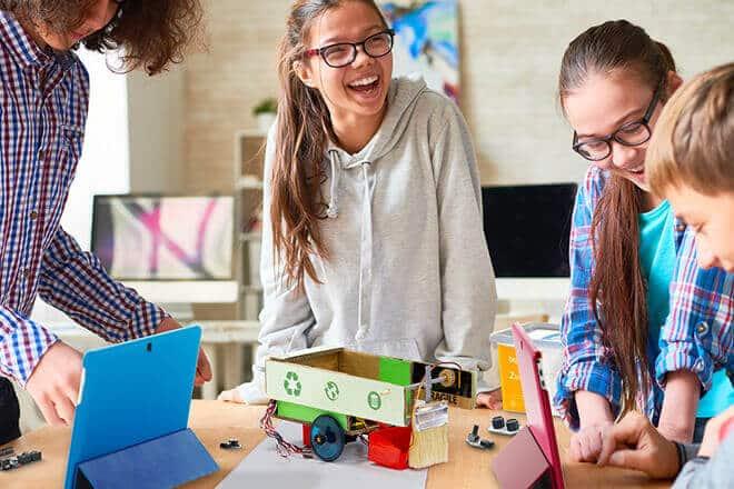 Robots en las escuelas