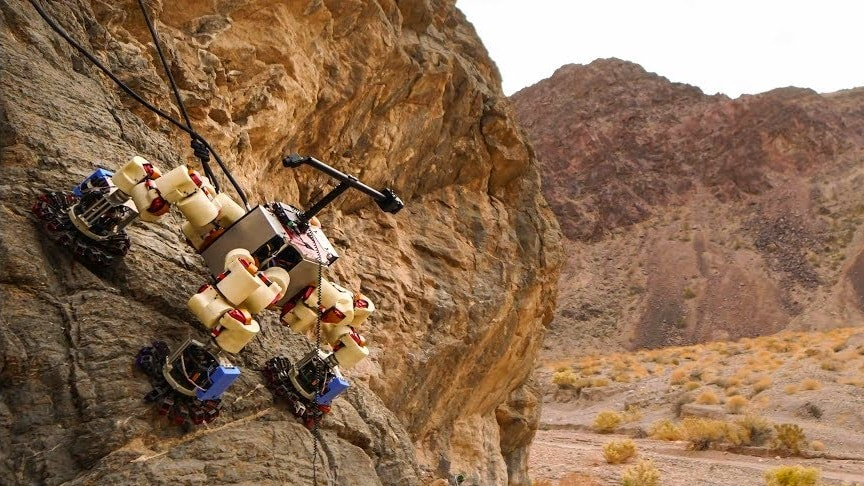 Robot espacial escalador Lemor de la JPL de la NASA