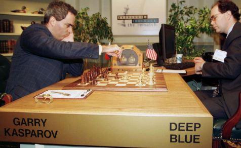 Inteligencia Artificial Deep Blue contra Kasparov en torneo de ajedrez en origen de la IA y a los tipos de inteligencia artificial que existen