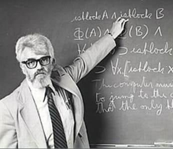 John McCarthy es uno de los padres de la inteligencia Artificial y fue quien inventó el nombre de Inteligencia Artificial en la conferencia de Dartmouth