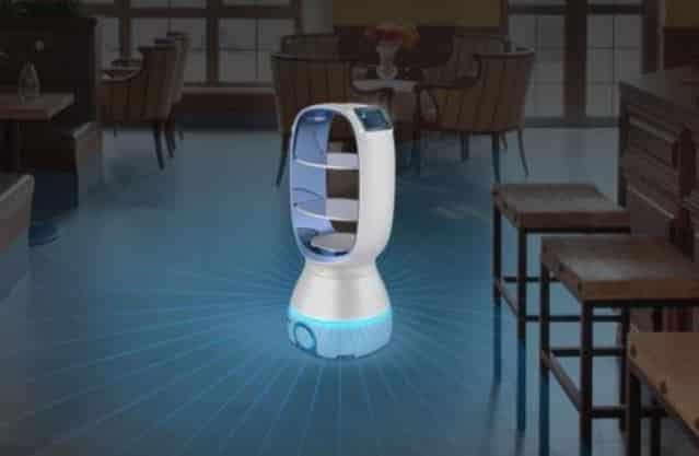 Robot camarero Keenon ayuda en la lucha contra el coronavirus