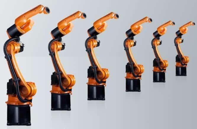 brazo robótico mecánico industrial