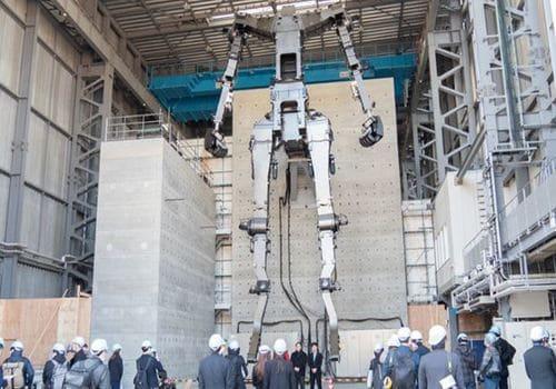Gundam, el robot que construyen en japón de la serie anime se puede ver