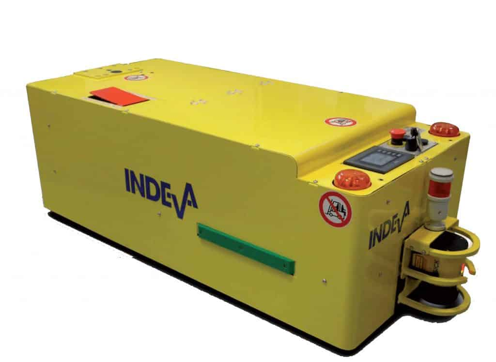 robots agv y aiv con baterías