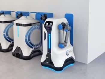 Robot de Volkswagen para recargar baterías de coches eléctricos