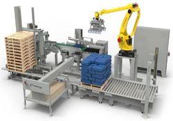 Robots paletizadores automatizados para cajas de final de línea