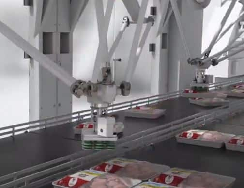 robot delta IRB 390 FlexPacker de ABB para packing y pick and place