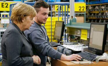 robótica en Alemania y robots instalados en fábricas