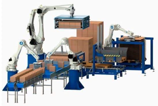 Robot despaletizador de cajas y botellas para automatización del despaletizado automático de palets