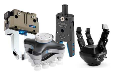 Garras y gripper con pinzas con dedos flexibles para robots industriales