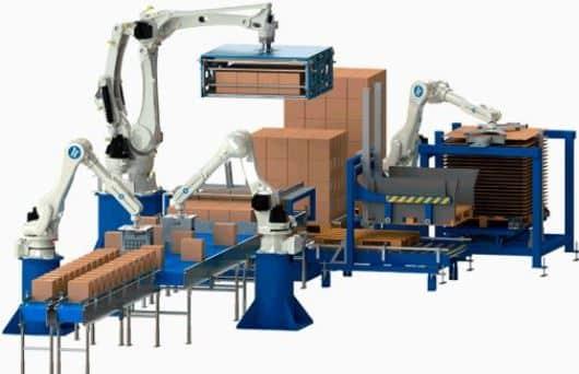 Robot paletizador de cajas de cartón para automatización del paletizado automático de cajas de cartón