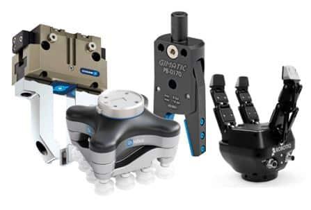 Sistemas de sujeción y de agarre con garras y gripper con pinzas para robots