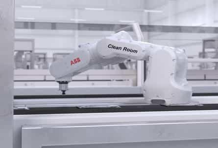 Robot de ABB IRB1100 para salas blancas