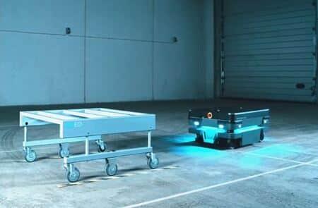 ROEQ presenta dos nuevos carros para los robots móviles de MiR250