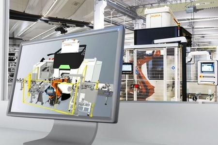KUKA mejora la experiencia del simulador KUKA.Sim 4.0 con RV
