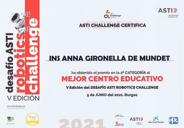 Anna Ginorella de Mundet Asti robotics