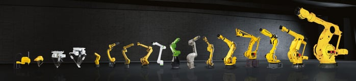 Tipos de robots colaborativos de FANUC